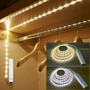 PIR Motion Sensor LED Strip Battery Wireless Light Stairs Cabinet Closet Lamp LY