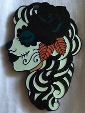 Señorita de los Muertos Single Geocoin Ice Queen Trackable Geocaching GLOWS