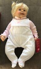 "Gotz Artisan life like real baby blonde doll rare 22"""
