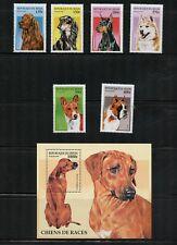 P042 Benin 1997 dogs set & sheet MNH
