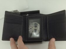 Men's TIMBERLAND Brand Black LEATHER TriFold Wallet - $55 MSRP