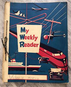 Lot of 27 Vintage My Weekly Reader 1958-59 Elementary School Educational News