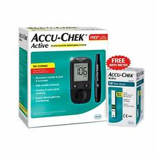 Accu-Chek Active Blood Glucose Meter Kit, Vial of 10 strips free