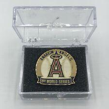2002 Anaheim Angels MLB World Series Press Pin RARE