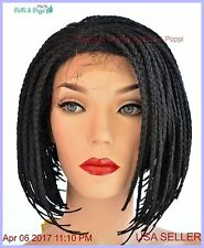 Lace Front Skin Top Braided Style Wig  Color #4 Hot Sexy Style  USA Seller 1170