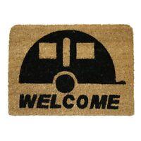 JVL Caravan Welcome Coir Coconut Entrance Door Mat 36 x 50 cm Doormat