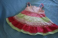 size 00 SPROUT baby dress pants set rainbow pinks soft cotton