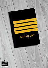Custom Pilot Captain Passport Cover - Customisable - Airport - Aviation