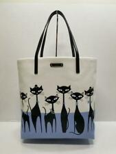Auth Kate Spade Cats Jazz Things up Bon SHOPPER Tote Handbag Wkru4585