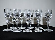 """9 WATERFORD CRYSTAL """"CURRAGHMORE"""" CORDIAL GLASSES 4-3/8"""" EXCELLENT CONDITION"""
