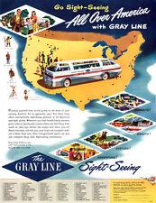 Gray Line Sightseeing Tours HAVANA Honolulu TOURISM BUS Sight Seeing 1948 Ad