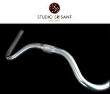 NEW Nitto b302aa North Road MOUSTACHE HANDLEBAR MANUBRIO SILVER 25,4 mm klemmung
