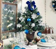 """Kringle Express 24"""" Pre-lit Decorated Christmas Tree W Gift Box H201456 ICY BLUE"""