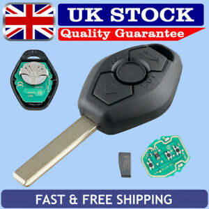 3 Button Remote Key Fob 433MHZ Uncut Blade Replace For BMW E46 E39 3 5 7 Series