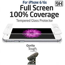 Full Screen 3D Curved Tempered Glass Screen Protector White for iPhone 6 6S