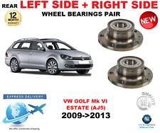 Para VW Golf Mk VI Trasero Rodamientos Par 2009- > 2013 AJ5 Estate Izqda. y