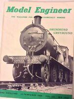 Model Engineer Magazine Drummond Greyhound February 18, 1960 090117nonrh