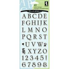 Inkadinkado Clear Stamps - Somerset Alphabet and Numbers