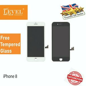 For iPhone 8 Black Retina LCD Screen Replacement Touch Digitizer Assembly