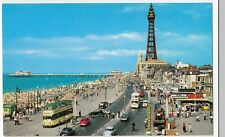 Blackpool; Tower, Golden Mile & Pier PPC, Unused,  John Hinde, Shows Balloon Car