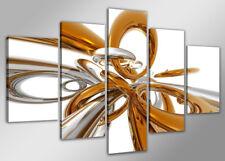 Bilder 200x100cm XXL Bild 3D Formen echte Leinwand Nr 6304// von  Visario