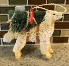 New Pottery Barn Bottlebrush LAB Dog Tree Christmas Holiday Ornament