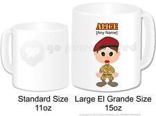 Personalised Army Female Soldier Camouflage Cadet Large Gift Mug 15oz (Design 1)