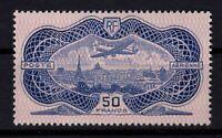 AJ140405/ FRANCE / AIRMAIL / Y&T # 15 MINT MH CERTIFICATE - CV 950 $