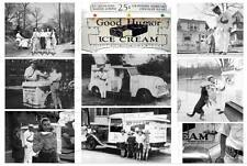 GOOD HUMOR ICE CREAM MAN TRUCK COLLAGE GROUPING VINTAGE CANVAS ART PRINT