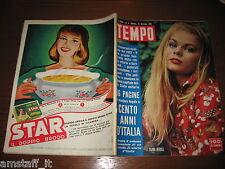 RIVISTA TEMPO 1961/3=TAJNA BERILL=CENT'ANNI D'ITALIA=PUBBLICITA' DADO STAR=
