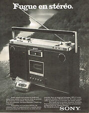 PUBLICITE   1977   SONY   radio magnétophone
