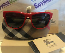 Burberry Sunglasses Red & signature pattern BE4131 3364/87 NEW!  Fast Shipping!