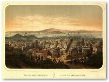 Antiguo Panorama de SAN FRANCISCO S.XIX 77x57cm. Poster