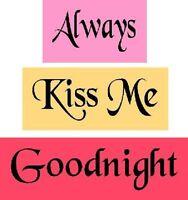 ~ITEM #2190 ~ PRIMITIVE STENCIL ~ 3PC ALWAYS KISS ME GOODNIGHT