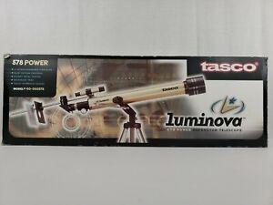 Tasco Luminova 578 Power Refractor Telescope 700 MM x 60 MM Model 40-060578