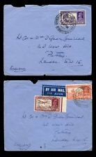 INDIA KG6 1939 SEPT AIRMAIL AHMEDNAGAR CAMP...2 COVERS to PUTNEY GB + PIECE