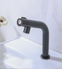 Bathroom Black Spary Paint Basin Faucet Single Cold Water Tap Stainless steel