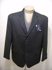 Chaps Men's 100% Wool Sport Coat Blazer Jacket Grey Charcoal Pinstripe 42S $220