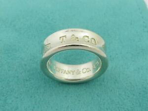 TIFFANY & CO Sterling Silver 1837 Ring Size 5