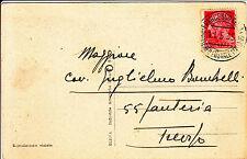 PIROSCAFO POSTALE FRANCESCO CRISPI-Cartolina 20 c IMPERIALE x Treviso 11.5.1935