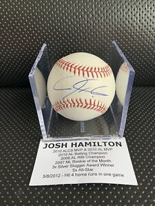 Josh HAMILTON Tristar AUTHENTIC Rawlings Signed Autographed Baseball W/ COA!