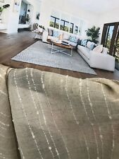 6 .5 mtr wide  Hamptons Sheer Curtain Fabric RUCHE  20% Linen -280 drop -LAST 1