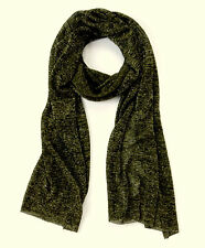 Country Road New Metallic Scarf BNWT $69 Long Rectangular /Olive Colour /Viscose