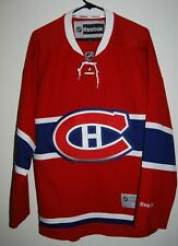 LNH Montreal Canadiens REEBOK Red Jersey Size Medium M Hockey NHL Authentic