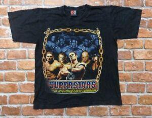 Vintage WWE Superstars Hot-Ice John Cena Undertaker Triple H Wrestling Shirt M