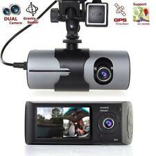 DASH CAM AUTO DOPPIA TELECAMERA GPS REGISTRATORE VIDEOCAMERA MONITOR R300 CAMPER