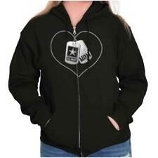 United States Army USAF Proud Mom Gift Zipper Sweat Shirt Zip Sweatshirt