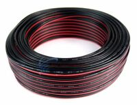 22 Gauge 100 Feet Red Black 2 Conductor Speaker Wire Copper Clad Aluminum CCA