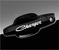 4 CHARGER Stickers Decals Wheels Door Handle Mirror DODGE SRT sticker WHITE