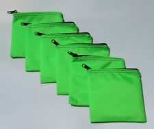 25 Lime Green Water-Resistant Make-up Tool Organizer Change Purse Lot